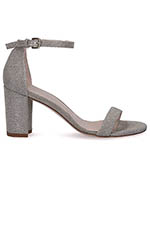 Stuart Weitzman Sandales Nearlynude Silver