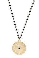 Maison Irem Collier pièce de monnaie Black Bead