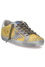 Golden Goose Sneakers Superstar, jaune pailleté