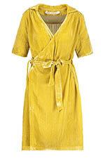 Fabric Copenhagen Robe en velours jaune