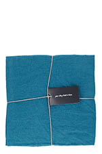LinenMe Taies d'oreillers x 2  50 x 75 cm Marine blue