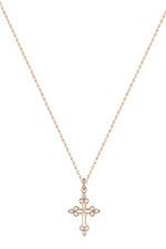 Stone Paris Collier devotion en or rose et diamants