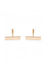 Ginette NY Boucles d'oreilles - Gold strip