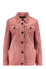 Alexa Chung Veste Patch Pocket Rose