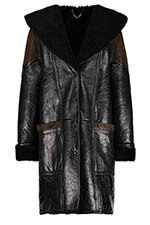 Golden Goose Manteau Black Shearling
