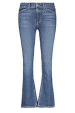 Re / Done Jean Mid Rise Kick Flare Crop