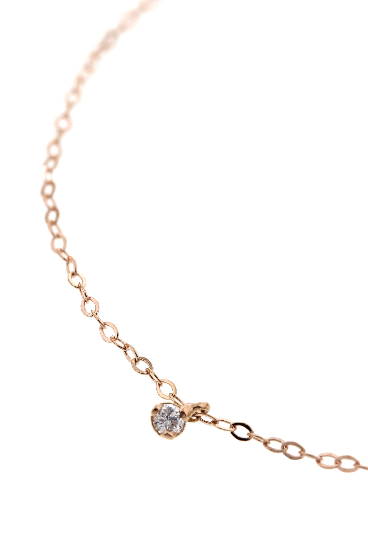 collier en or rose et diamant 42 cm gigi clozeau. Black Bedroom Furniture Sets. Home Design Ideas