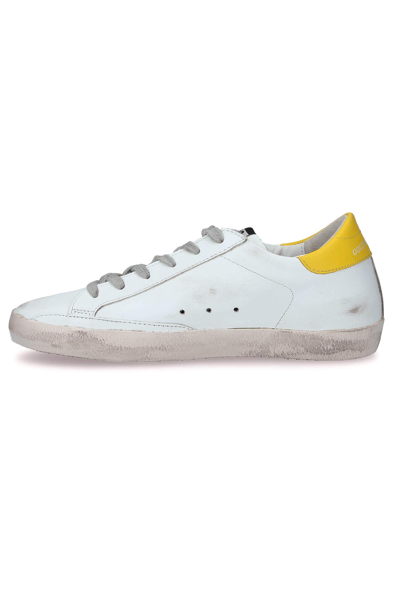 Sneakers Superstar Blanche Et Jaune Golden Goose