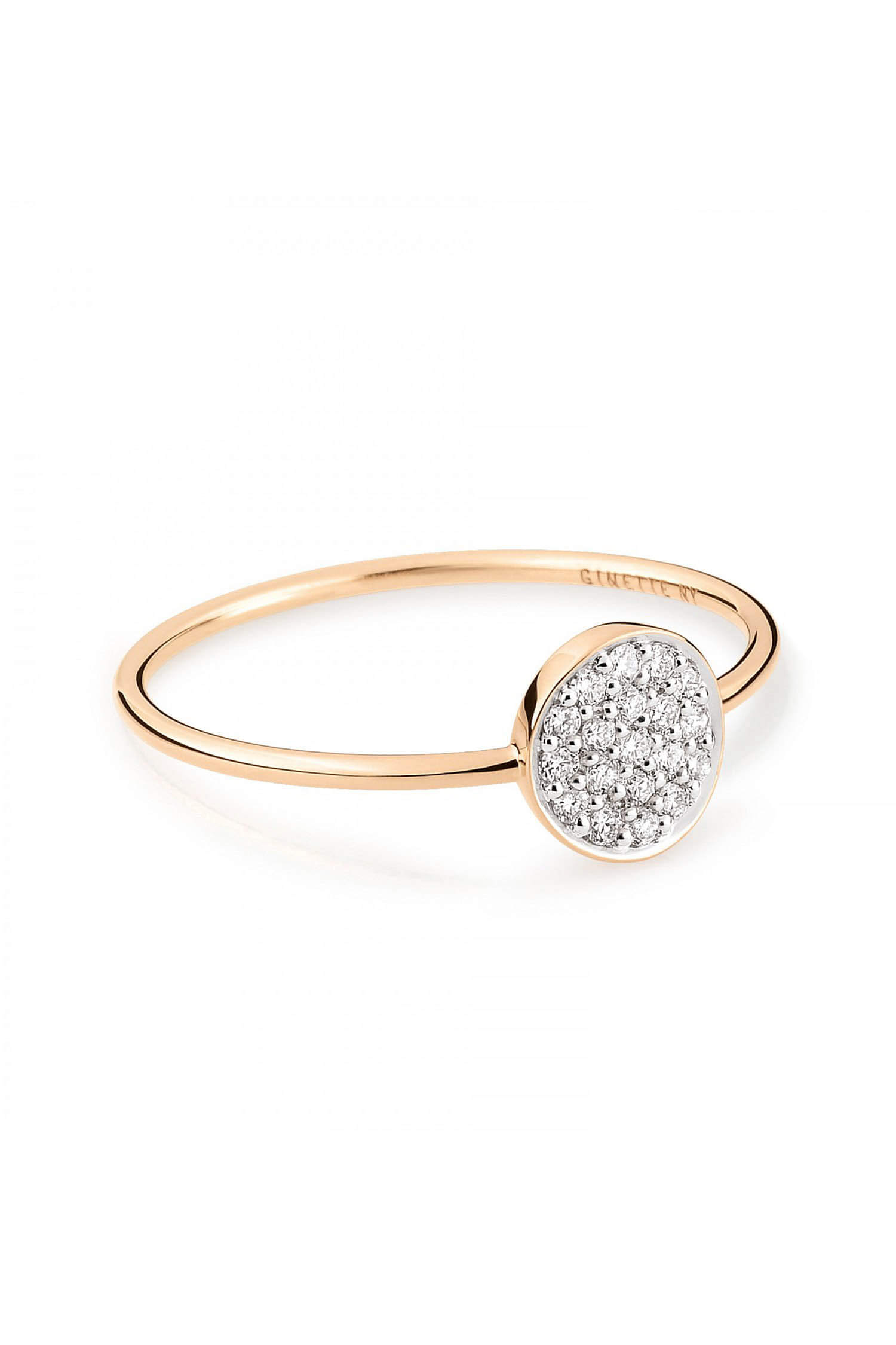 Ginette NY   Bague Mini Diamond Ever Disc. Appuyez pour zoomer 1383b391ab79