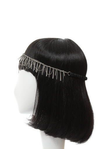 Maison Michel / headband Ursula-Spines & chains silver