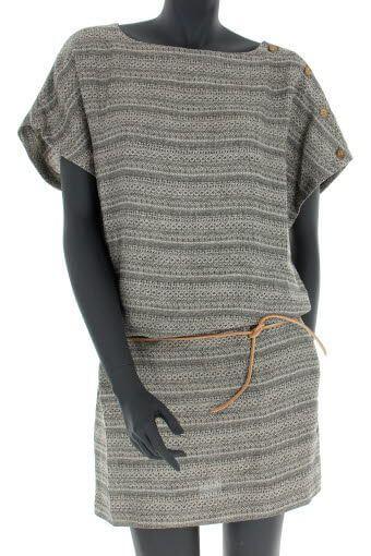 Swildens / Robe en lin jacquard