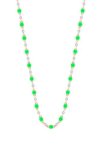 Gigi Clozeau / Collier en or rose et perles de résine fluo