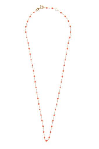 collier en or rose et perles de r sine fluo gigi clozeau. Black Bedroom Furniture Sets. Home Design Ideas