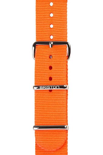 Briston / Bracelet spécial nato orange 245mm