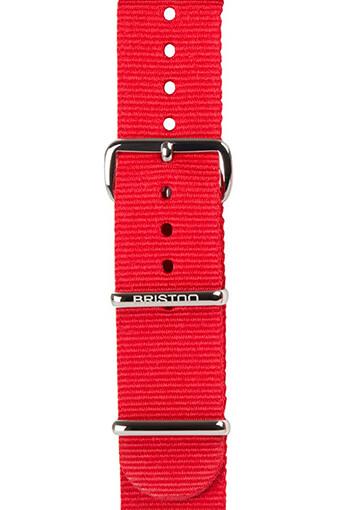 Briston / Bracelet uni Nato rouge 280 mm