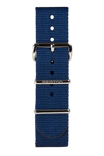 Briston / Bracelet spécial NATO bleu marine 245 mm