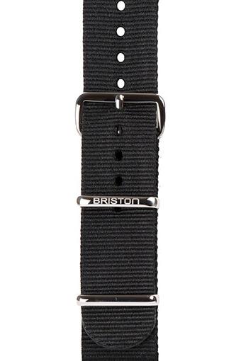 Briston / Bracelet Nato noir 280mm