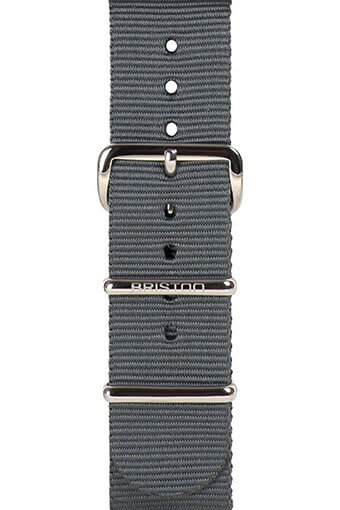 Briston / Bracelet spécial NATO gris 245mm