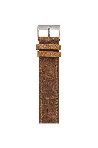 Briston / Bracelet type Nato en cuir vintage marron 235mm