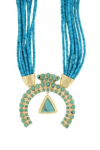 Aurélie Bidermann / Sautoir Navajo turquoise