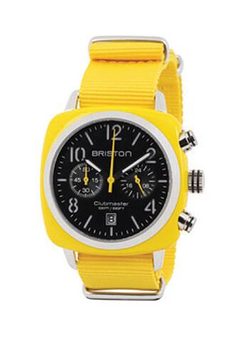 Briston / Clubmaster Chrono acétate jaune black