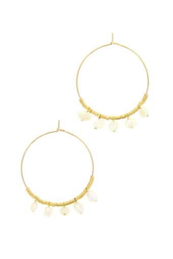 Luj / Boucles d'oreille créoles perles fines