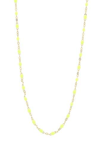Gigi Clozeau / Collier or jaune et perles de résine fluo