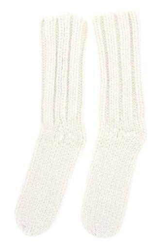 Soeur / Chaussettes Tivoli tricotées en laine blanche