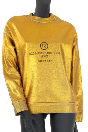 Golden Goose / Sweat Laura couleur or