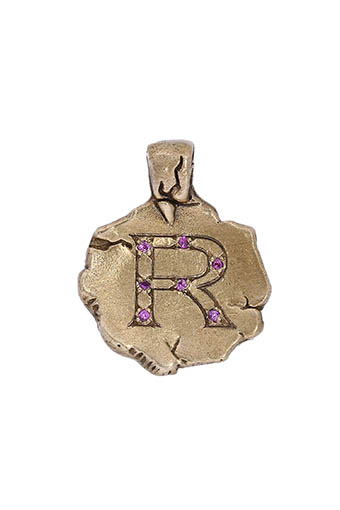 Catherine Michiels / Charm's initiale en bronze