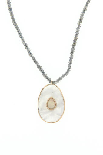 Pascale Monvoisin / Sautoir Simone moonstone pierre de lune et opale