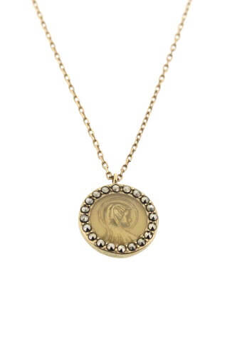 Feidt / Collier médaille ronde Madone
