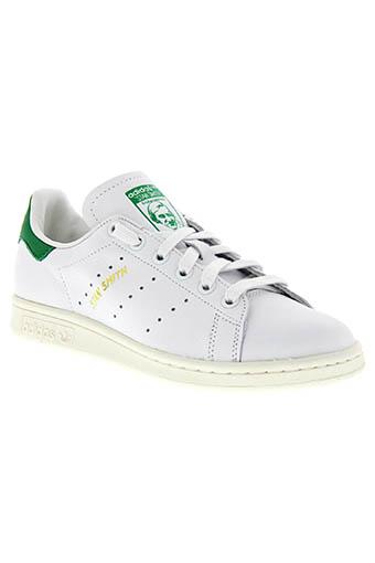 Adidas Originals / Stan Smith white patch vert