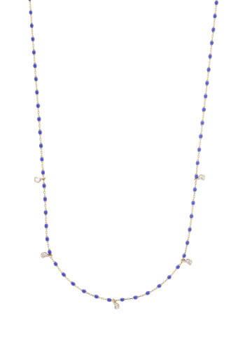 Gigi Clozeau / Collier or rose, perles de résine et 5 diamants