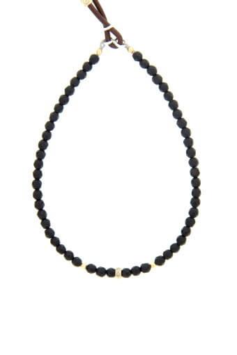 Catherine Michiels / Bracelet Agate noire et diamants