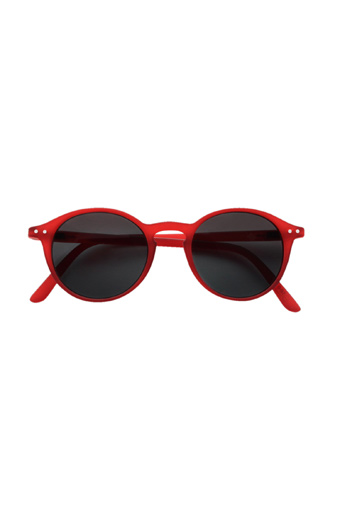 See Concept Izipizi / Lunettes Solaires #D red crystal soft grey lenses