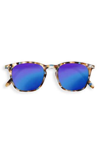 See Concept Izipizi / Lunettes solaires #E blue tortoise verres miroirs bleus