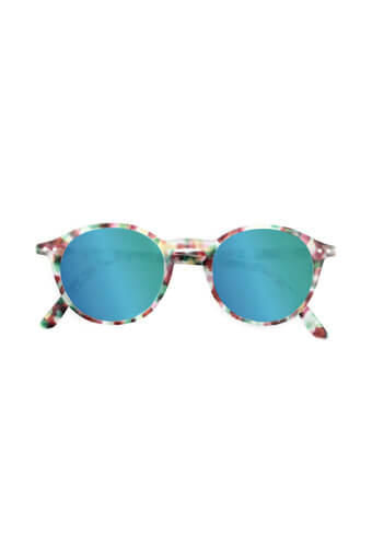 See Concept Izipizi / Lunettes Solaires #D Green tortoise verres miroirs green
