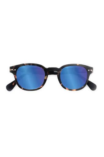 See Concept Izipizi / Lunettes solaires #C  tortoise soft  verres miroirs bleus