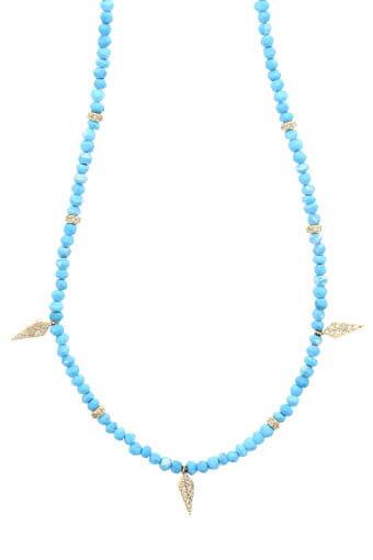 Jacquie Aiche / Collier turquoise et poignards diamant