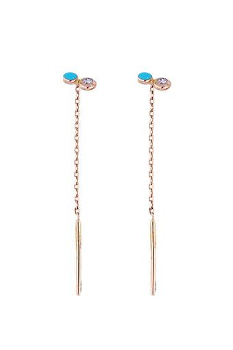 Gigi Clozeau / Boucles d'oreilles dot or rose et diamant