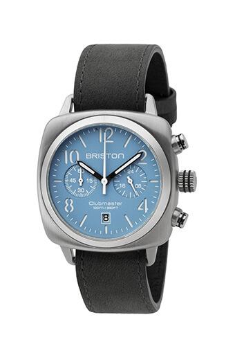 Briston / Clubmaster Classic Acier Chronographe - cadran bleu ciel mat