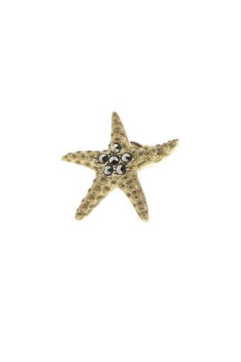 Feidt / Boucle d'oreille étoile de mer or jaune