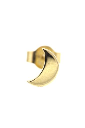 Feidt / Boucle stud mini lune or jaune 9 carats