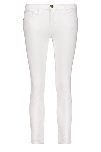 Current Elliott / The Jean Cropped Straight blanc