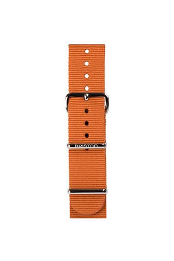 Briston / Bracelet spéciale NATO Marron foncé, boucle en acier or rose 245mm