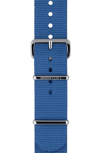 Briston / Bracelet type NATO - Bleu ciel 245mm
