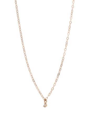 Gigi Clozeau / Collier en or rose et diamant 40 cm
