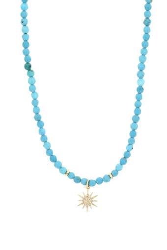 Catherine Michiels / Collier Turquoise et Etoile en diamant