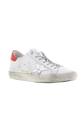 Golden Goose / Sneackers superstar homme white/red